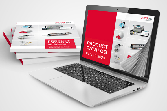 Laptop with product catalog